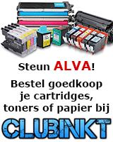Steun ALVA. Bestel goedkoop je cartridges, toners of papier bij Clubinkt.
