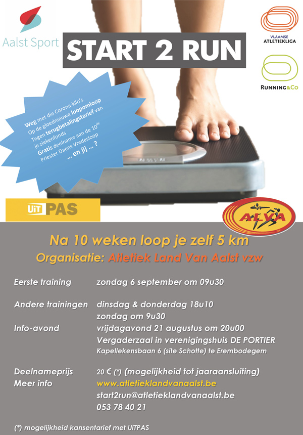 Affiche Start-to-Run bij ALVA